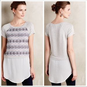 Anthropologie-Dolan Skirted Baseball Tee Tunic
